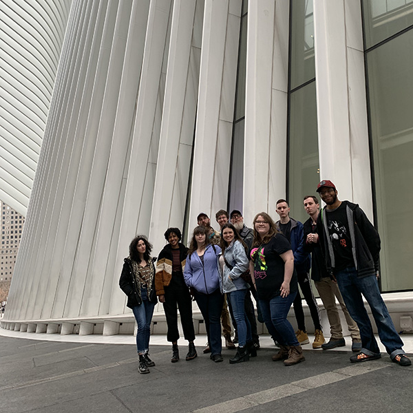 Students at Oculus in NYC