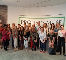 ADM students at the Fashion Institute of Technology during the annual trip to New York