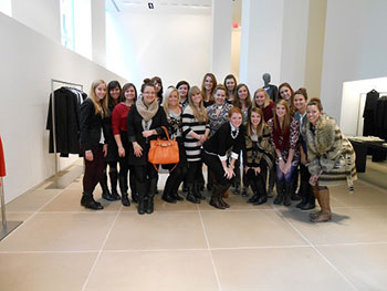 Apparel Design and Merchandising students, NYC 2012