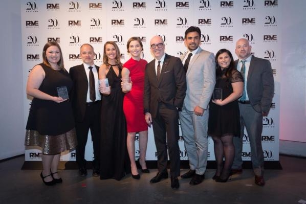 Students and faculty at the PAVE gala in New York