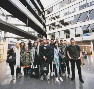 Rider Evens in Germany as a Finalist in the Adidas Design Academy