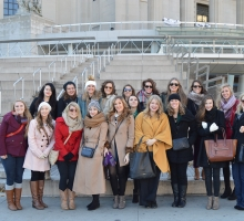 ADM students on the annual trip to New York